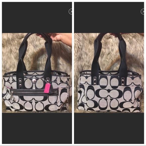 Coach Handbags - Black & Gray Coach Bag